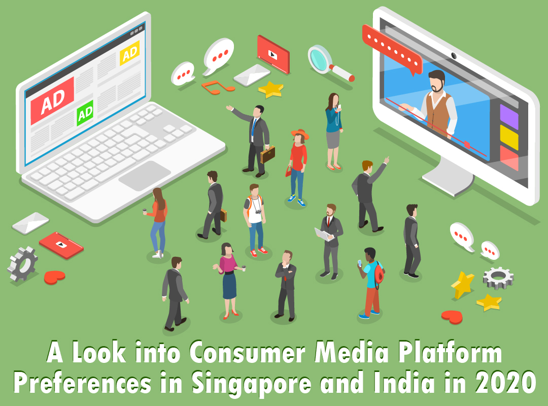 Consumer Media Platform Preferences in 2020 among Indian and Singaporean Consumers