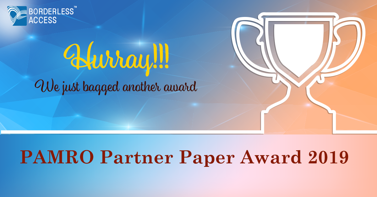 Borderless Access Wins the PAMRO (2019) Partner Paper Award